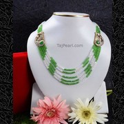 Crystal beads necklaces,  Fashion Jewellery from Tajpearl.com