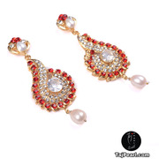 High Quality Pure Pearl Studded Earrings from TajPearl.com