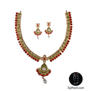 Gold plated Necklaces studded with Pure Pearls from TajPearl.com