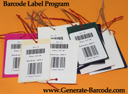 Barcode label software for stock inventory