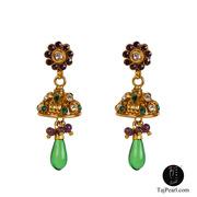 Taj Pearl Fashionable Party wear Gold Plated Victorian Earrings