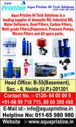 Aqua pristine™deal industrial ro plant manufacturer, water softener