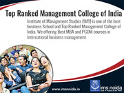 ​Top Ranked Management College of India
