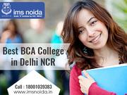 Best BCA College In Delhi NCR | Best BCA College In India