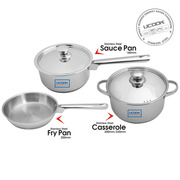 Buy United Ucook Lifetime Stainless Steel Cookware Combo Set With Lid