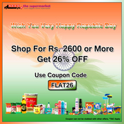 Get Flat 26% OFF on Online Groceries Shopping on Needsthesupermarket