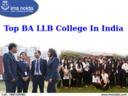 Top BA LLB College In India