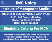 Eligibility Criteria For MCA