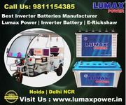Excellent Inverter Battery Manufacturer & Dealer in Noida |  Lumax