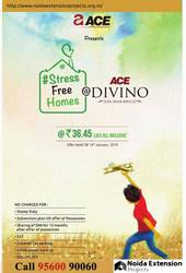 Stress Free Homes At Ace Divino Greater Noida,  9560090060