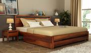 Find premium bed with storage in Noida at Wooden Street
